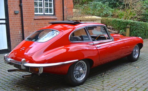 1969 JAGUAR E TYPE SERIES II 2+2 Coupe Auto   RHD with sun roof For Sale (picture 2 of 6)