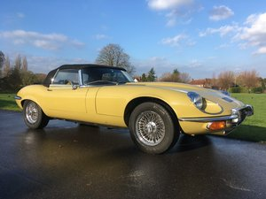 1973 Jaguar E-Type Series 3 V12 Automatic Roadster  For Sale