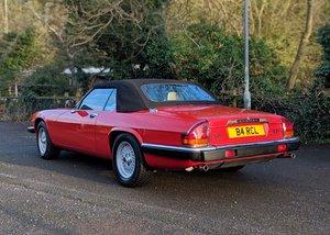 1989 Jaguar XJS Convertible (V12, 5.3 litre) SOLD by Auction