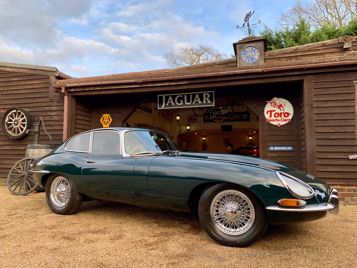 1965 JAGUAR E-TYPE S1 4.2 F.H.C, U.K. R.H.D, MATCHING NUMBERS. SOLD (picture 1 of 6)
