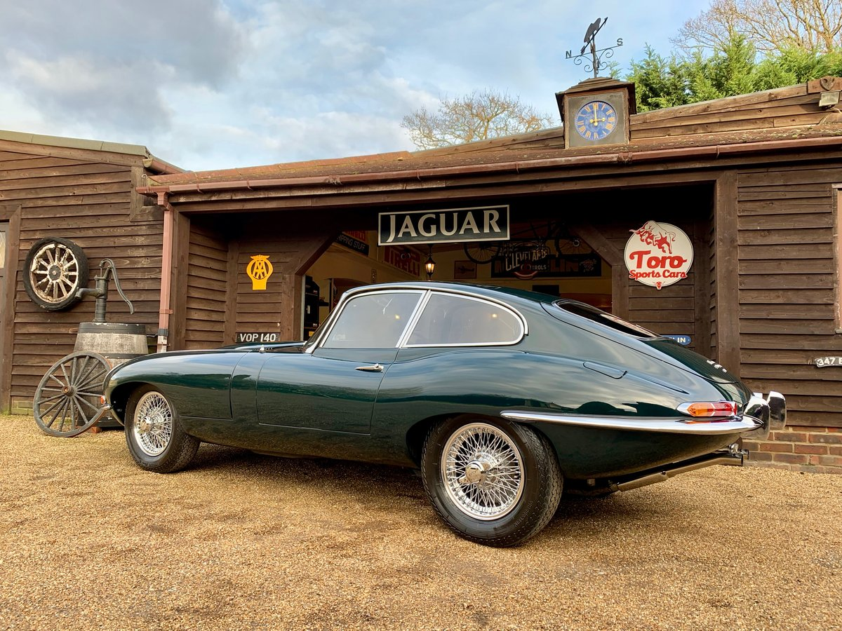 1965 JAGUAR E-TYPE S1 4.2 F.H.C, U.K. R.H.D, MATCHING NUMBERS. SOLD (picture 2 of 6)