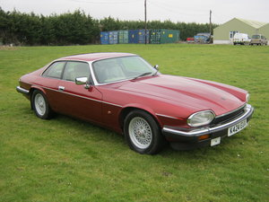 1993 JAGUAR XJS 4.0 AUTOMATIC. FLAMENCO MICA METALLIC RED  SOLD