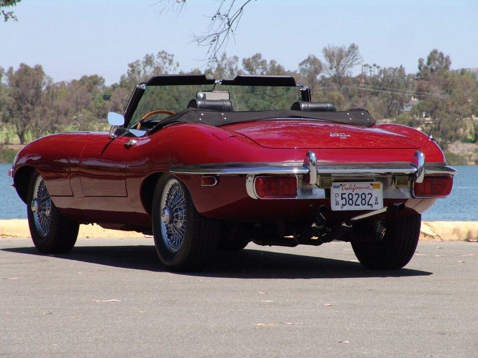 1969 Jaguar E-Type Roadster = Full Restored Burgundy $118k For Sale (picture 3 of 6)