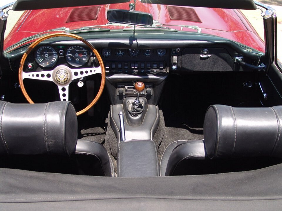 1969 Jaguar E-Type Roadster = Full Restored Burgundy $118k For Sale (picture 5 of 6)