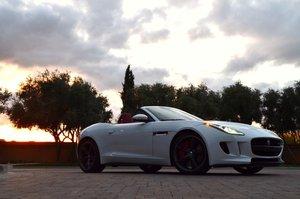 2014 Jaguar F-Type V8 S Convertible = White  LHD $45.9k