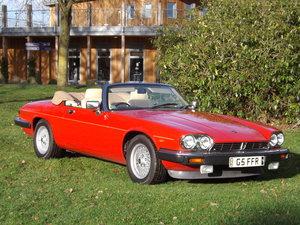 1990 Jaguar XJS V12 Convertible - Just 34600 miles Superb  For Sale by Auction