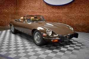 1974 Jaguar E Type Series III V-12 Roadster = Manual Brown $68.5k For Sale