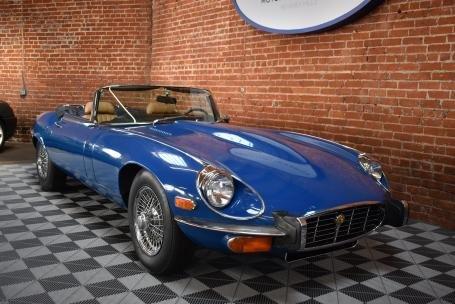 1973 Jaguar E Type Roadster = Manual Blue(~)Tan $64.5k For Sale (picture 1 of 6)