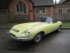 Jaguar E type 4.2 S2 Convertible 1970 Gen  RHD  48,900 miles For Sale