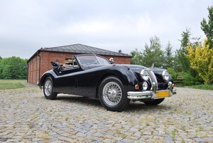 1955 Jaguar XK140DHC with C Type Head LHD For Sale