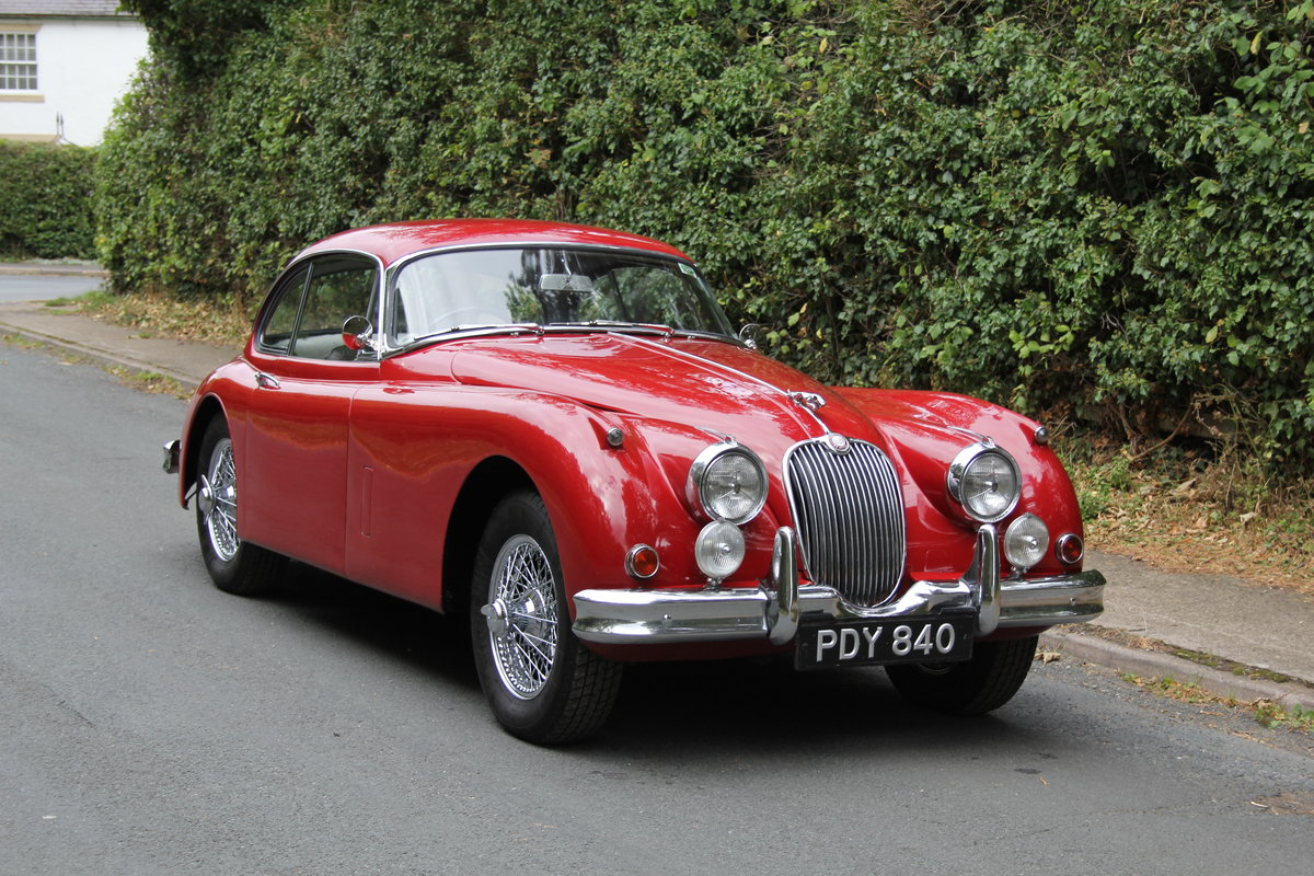 1960 Jaguar XK150 3.8 FHC - UK car, special order Pippen Red SOLD (picture 1 of 12)