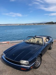 1995 Jaguar XJS  2+2 Convertible = Blue(~)Ivory $16.5k
