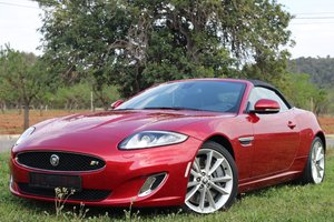 2013 LHD-Jaguar XKR 510PS - 1 of the few cabrios in red For Sale