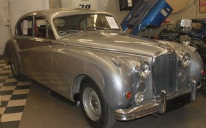1958 MK8 RHD Silver/Burgundy. SOLD For Sale