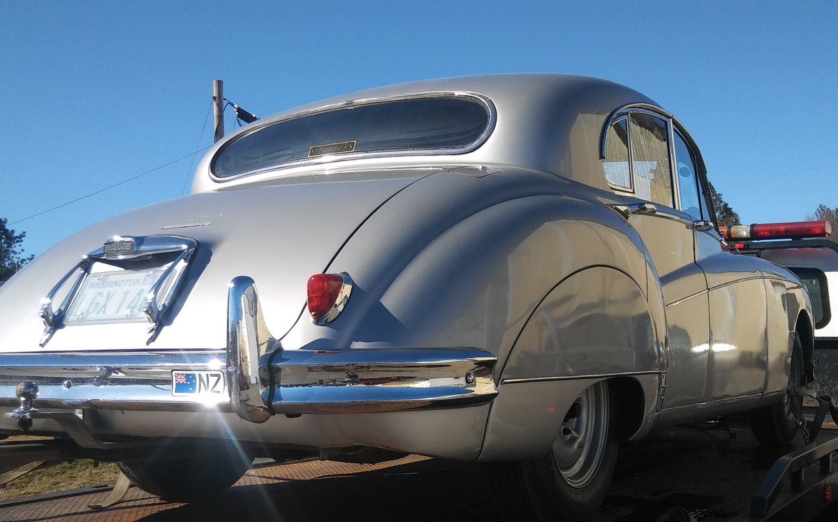 1958 MK8 RHD Silver/Burgundy. Great Car For Sale (picture 2 of 6)