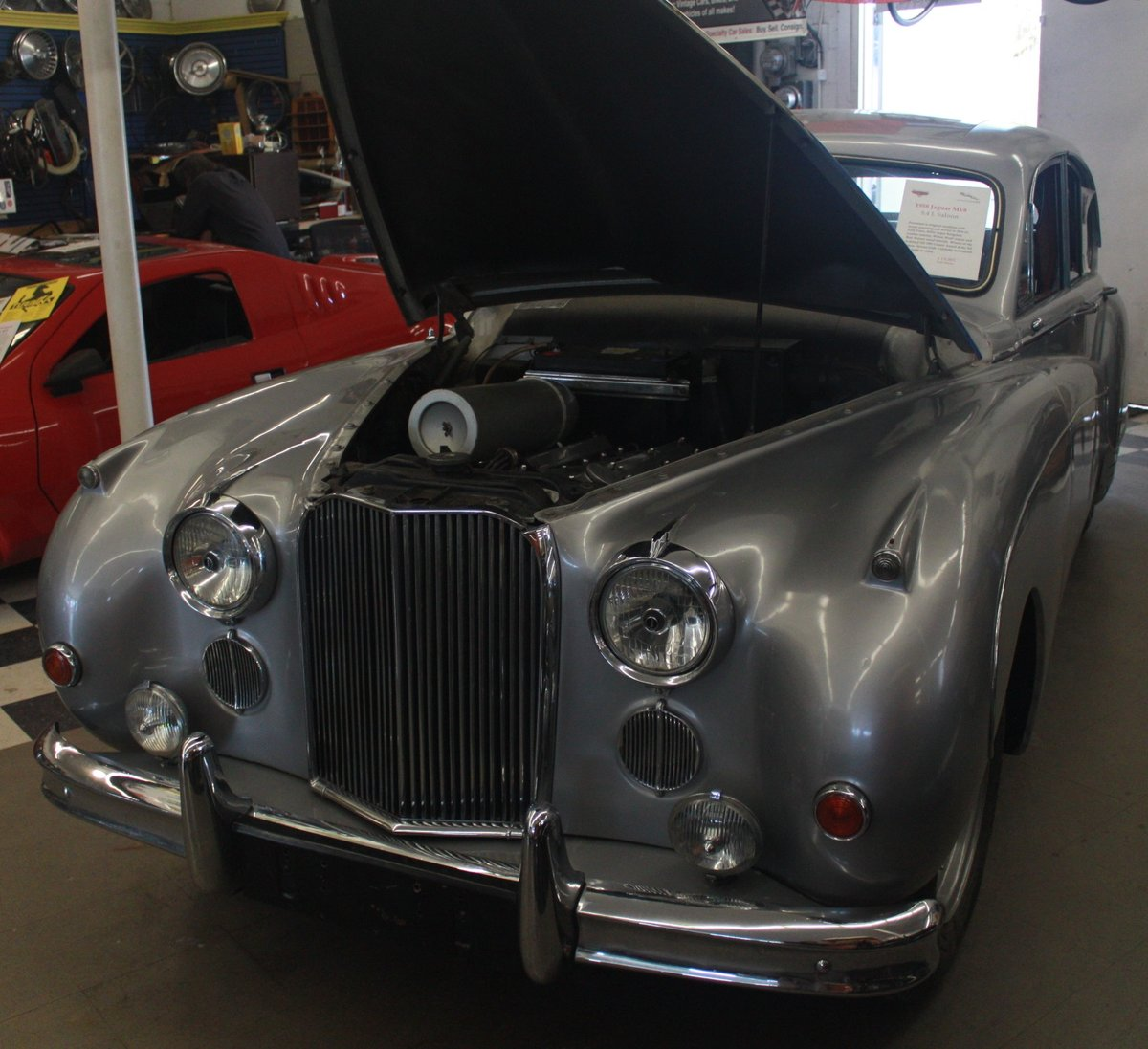 1958 MK8 RHD Silver/Burgundy. SOLD For Sale (picture 3 of 6)
