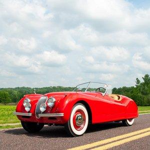 1953 Jaguar XK120 Roadster = LHD Restored Red(~)Tan $129k For Sale