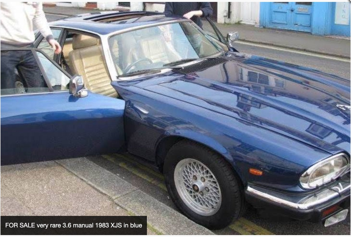 FOR SALE very rare 3.6 manual 1983 XJS in blue For Sale (picture 6 of 6)