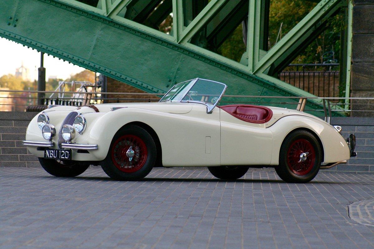 1952 Jaguar XK120 registration NBU120 For Sale (picture 1 of 6)