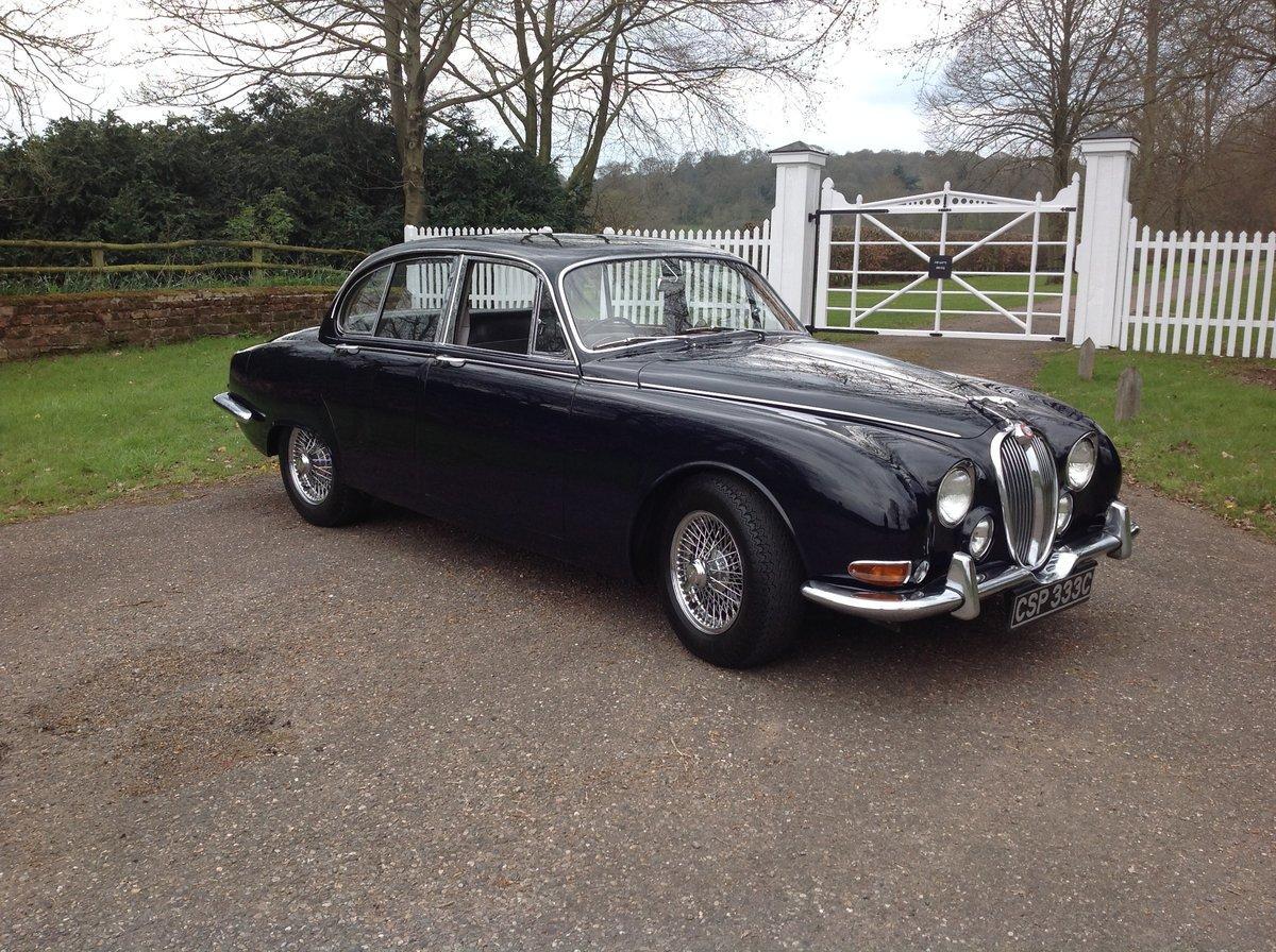 Beautiful Jaguar S Type 3.8cc 1965 Auto Dark Blue For Sale (picture 1 of 6)