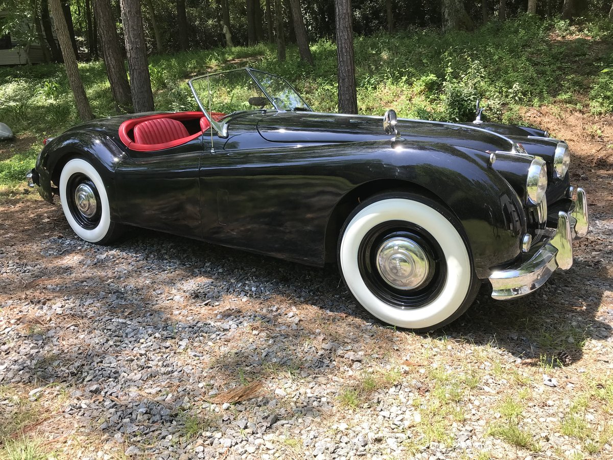 1956 Jaguar XK140 Roadster - LHD Competed in Period  For Sale (picture 1 of 6)