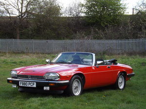 1988 Jaguar XJS V12 Convertible - Just 37,000 miles only For Sale by Auction