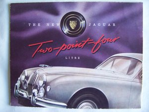1956 JAGUAR Mk.1 2.4 BROCHURE For Sale