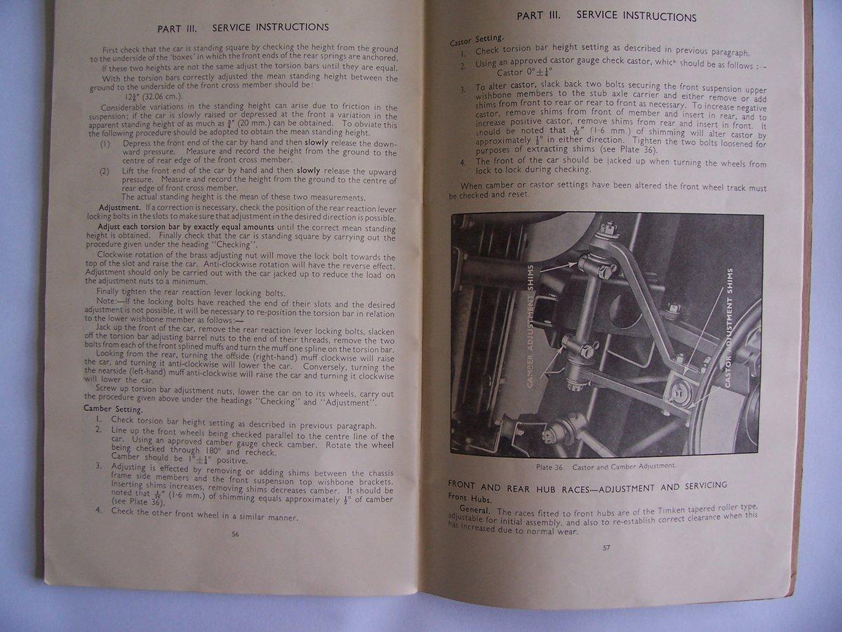 1954 JAGUAR Mk V11 OPERATING, SERVICE HANDBOOK For Sale (picture 3 of 6)