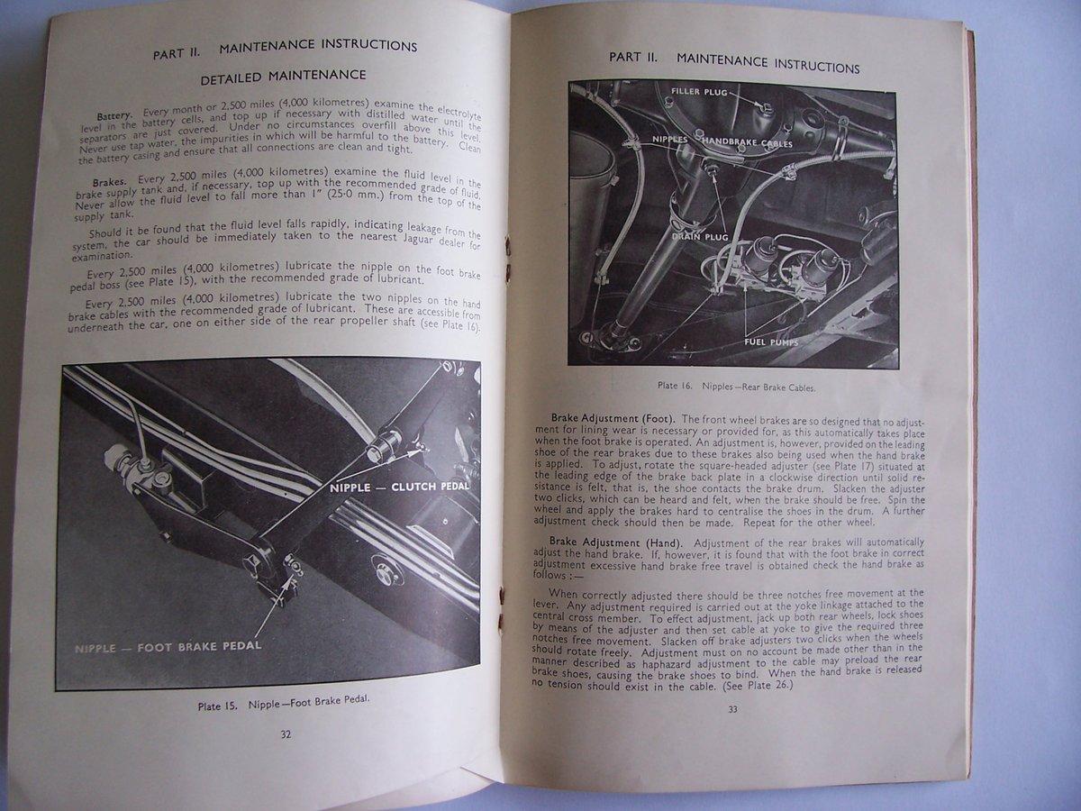 1954 JAGUAR Mk V11 OPERATING, SERVICE HANDBOOK For Sale (picture 6 of 6)