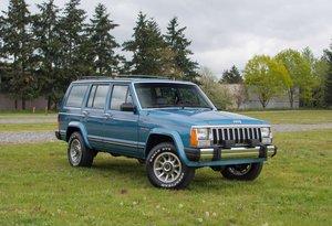 1987 Jeep Cherokee Laredo 4x4 = Rare Manual Blue $23.7k For Sale