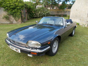 1989 Jaguar XJ-S Convertible, V12, Blue, low mileage For Sale