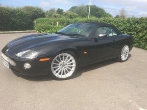 2005 jaguar xkr. Pearl black ivory interior.£13995 For Sale