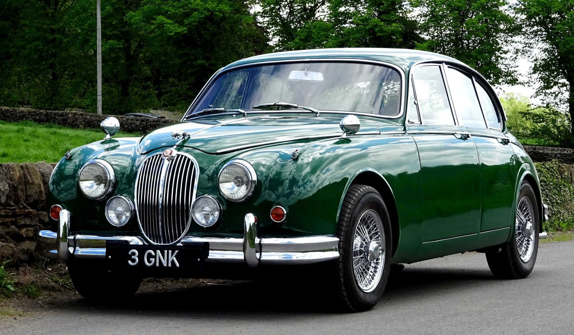 1961 STUNNING JAGUAR MK2 3.8 BRITISH CLASSIC CAR For Sale (picture 1 of 6)