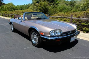 1990 Jaguar XJS Convertible V-12 = Roadster 32k miles $17.9k For Sale