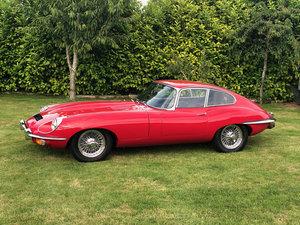 1970 Jaguar E-Type FHC Red/Black leather For Sale