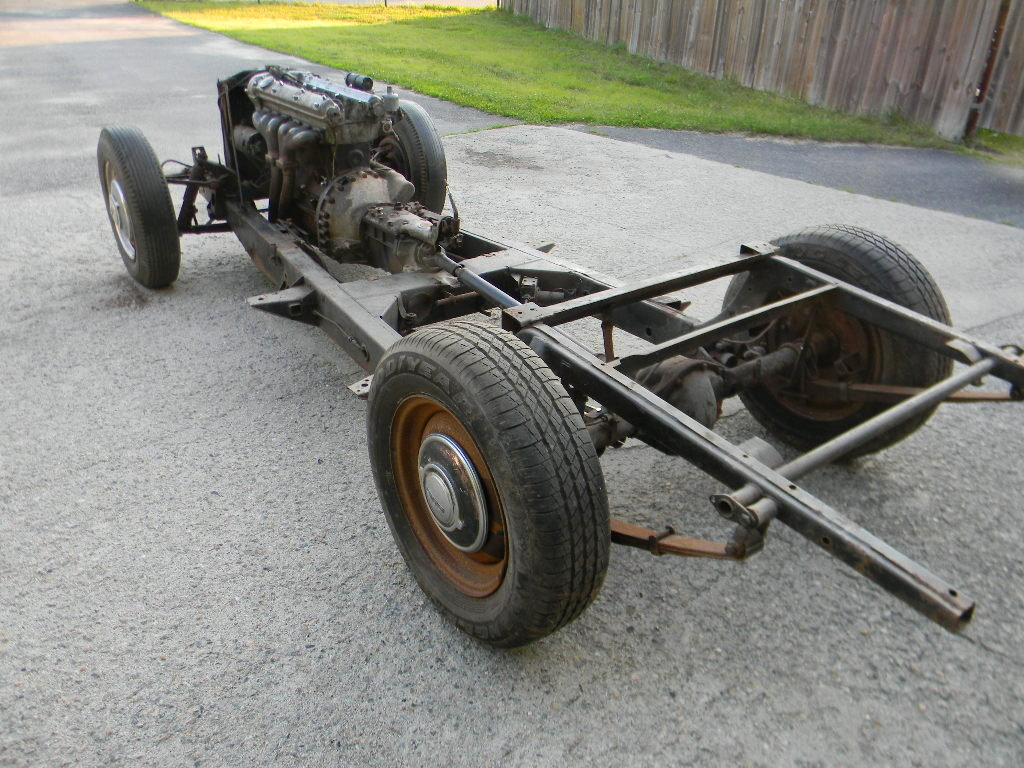1954 Jaguar XK120 Rolling Chassis /Drivetrain- Free Shipping For Sale (picture 1 of 6)