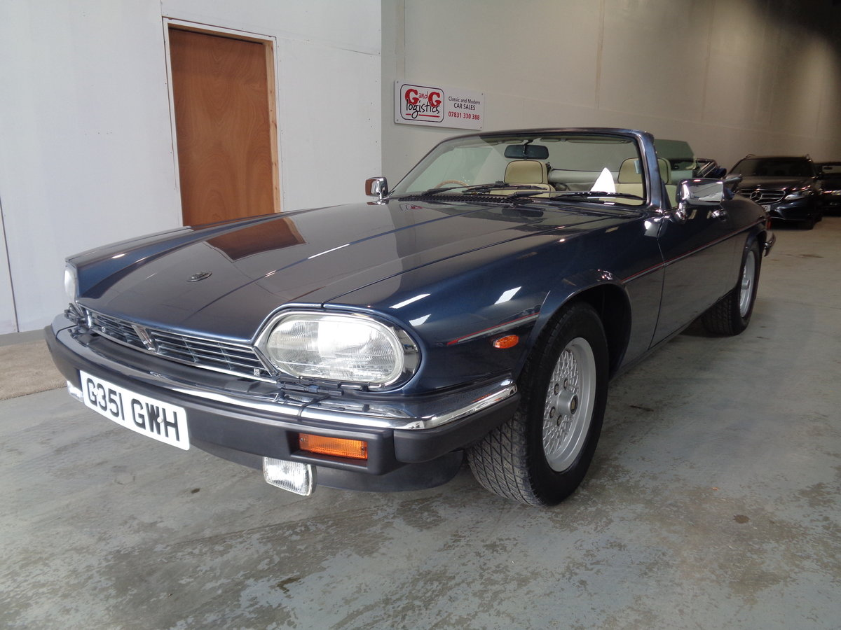 1990 Xjs 5.3 v12 convertible - 24,000 miles fsh For Sale (picture 1 of 6)