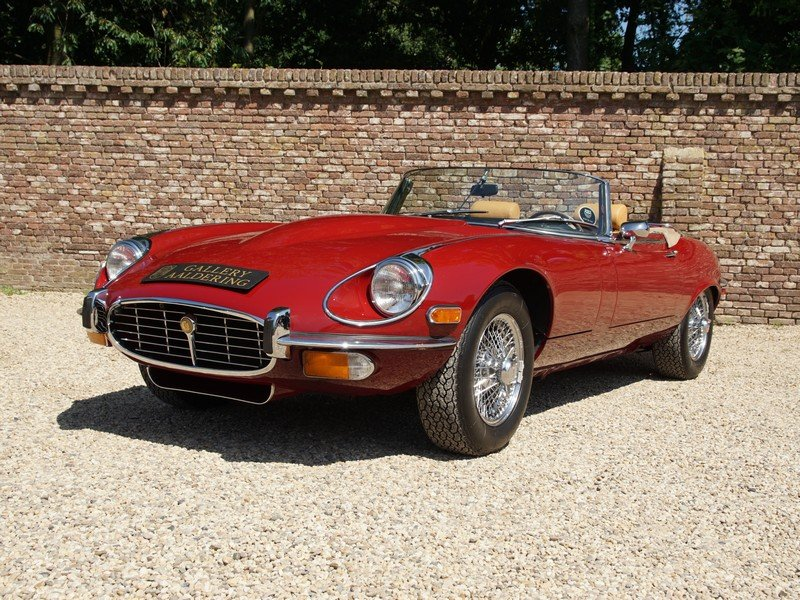 1973 Jaguar E-Type Series 3 V12 Convertible with AC For Sale (picture 1 of 6)