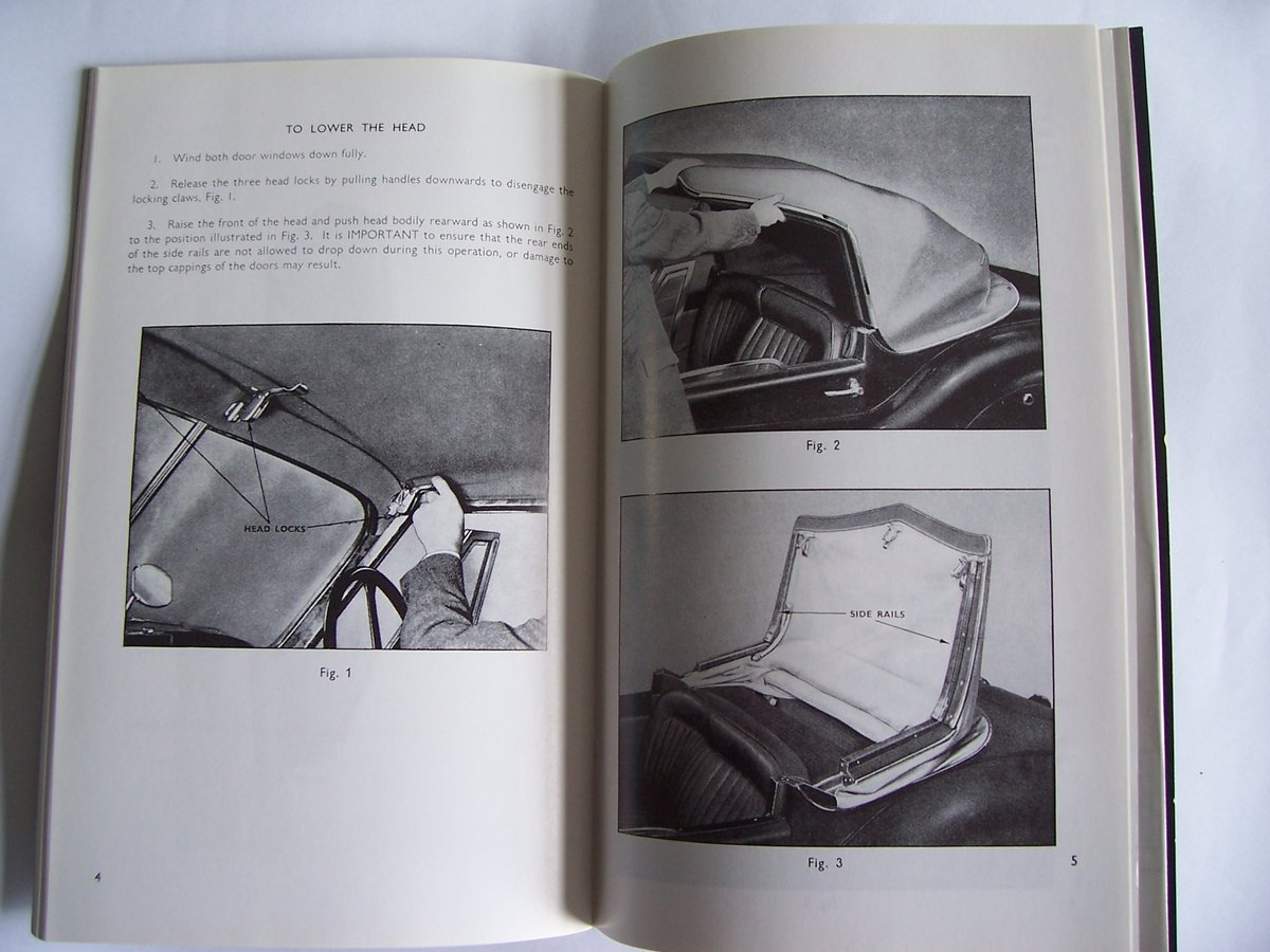 1948 JAGUAR XK 120 OPERATING, MAINTENANCE, and SERVICE HANDBOOK For Sale (picture 3 of 6)