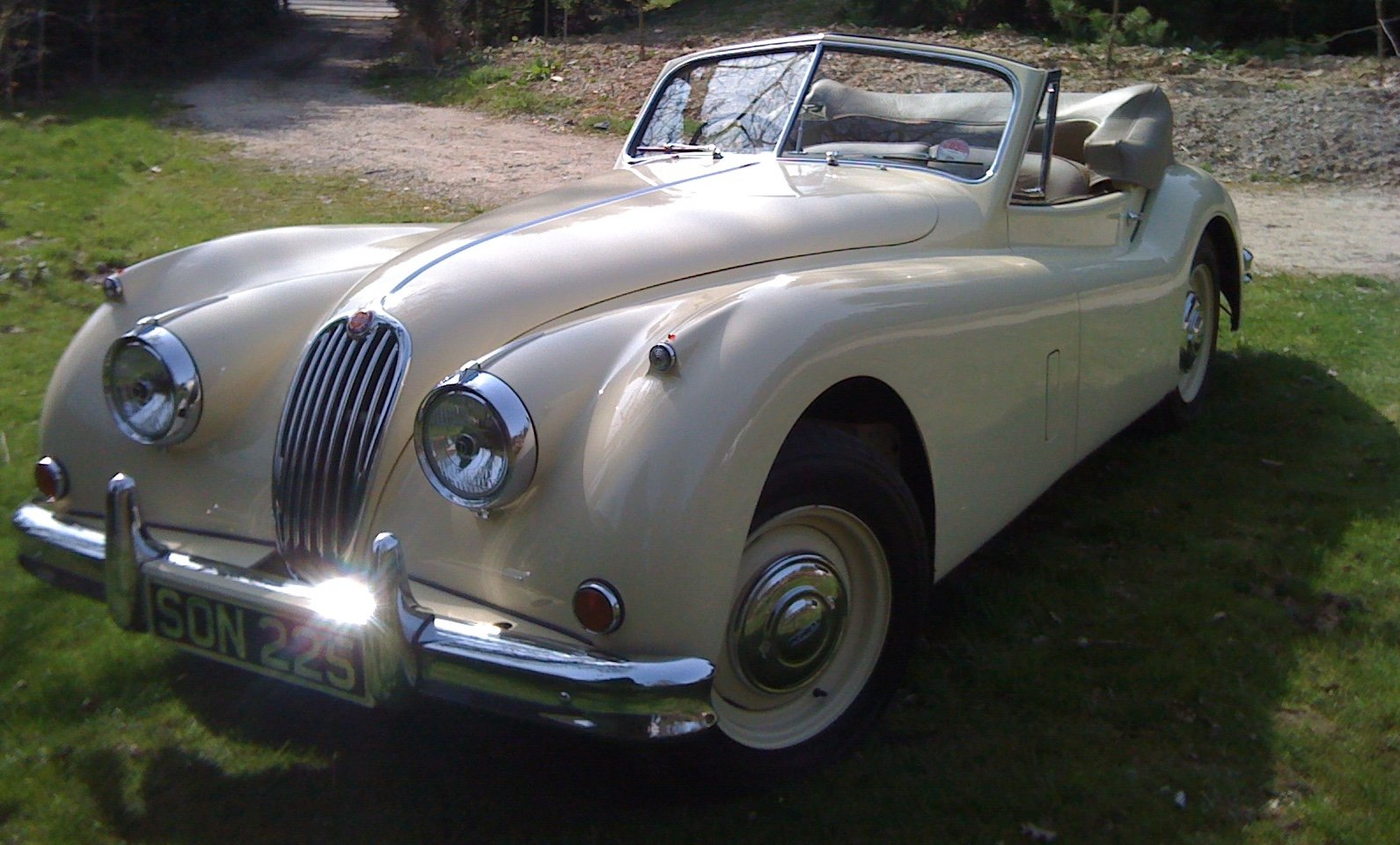 Jaguar XK140 DHC 1955 RHD WITH OVERDRIVE For Sale (picture 2 of 6)