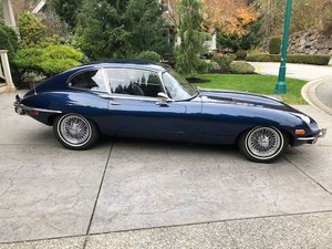 1971 Jaguar E-Type Series 2 Coupe = Blue driver Auto $65k