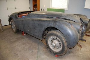 1956 Jaguar XK140 Roadster Project $59k USD For Sale
