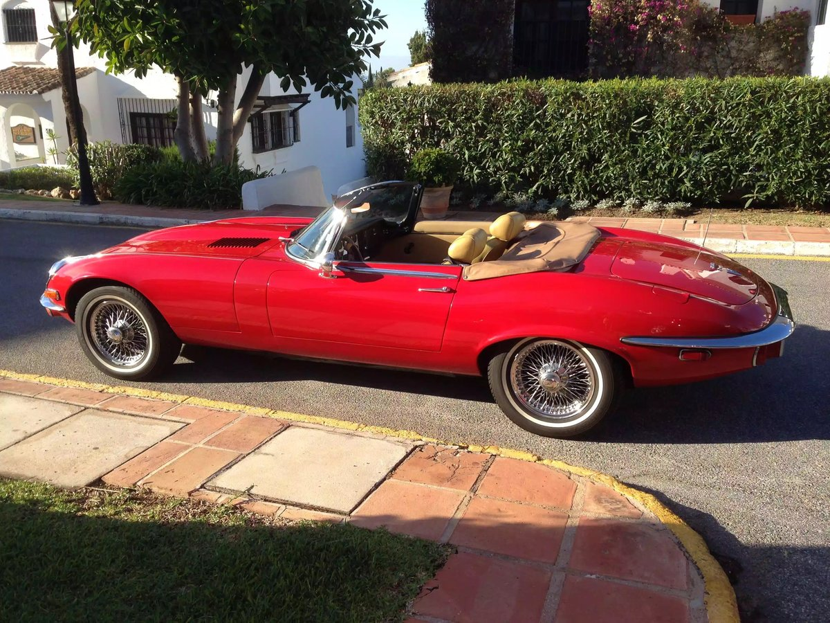 1974 Jaguar E Type V12 Open Top Sports For Sale (picture 1 of 6)