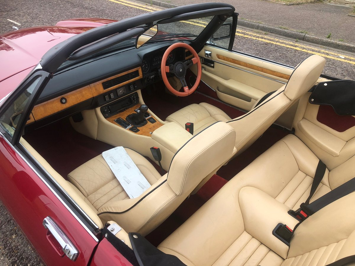 1985 Jaguar xjs convertible 3.6 manual restored new mot For Sale (picture 5 of 6)