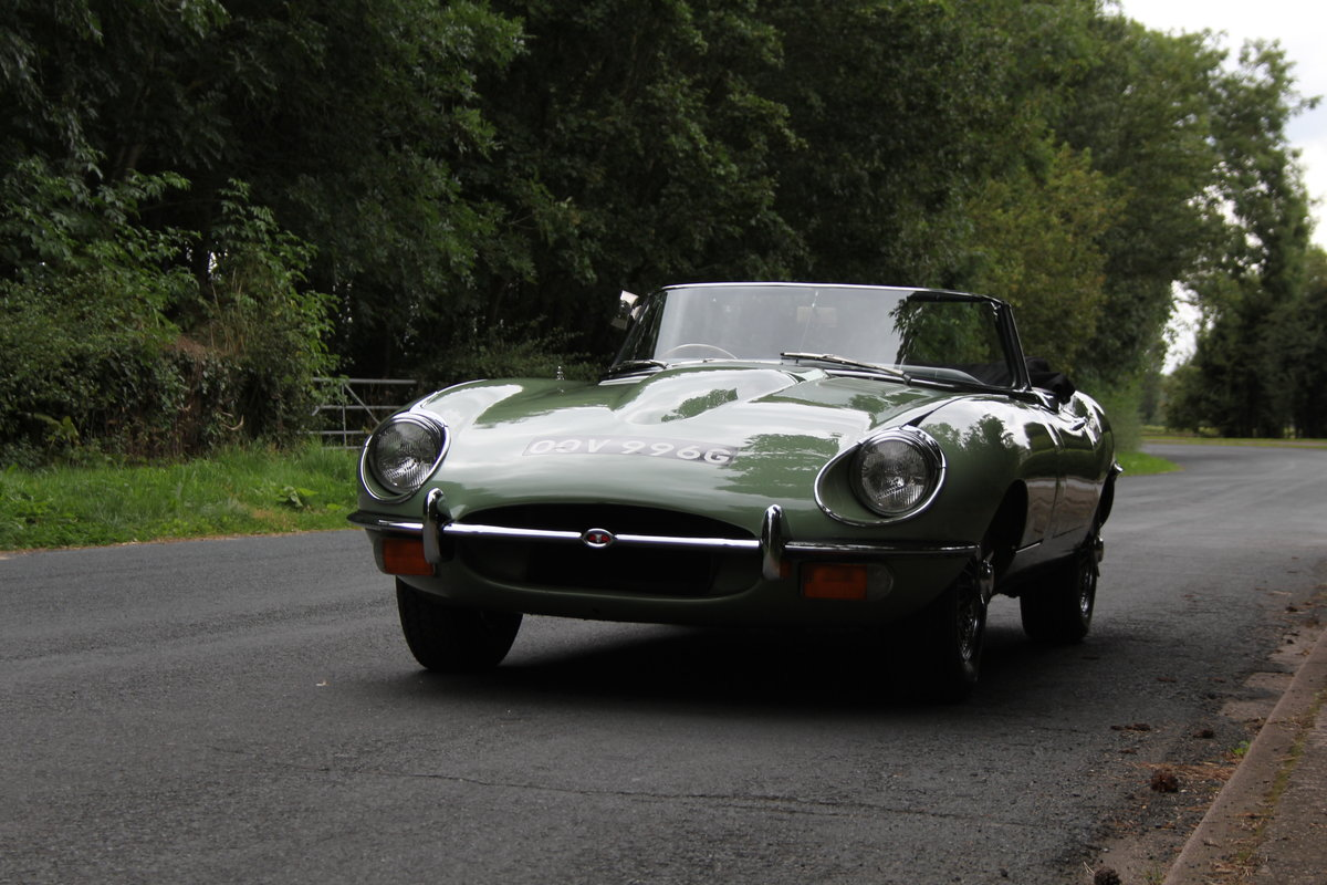 1968 Jaguar E-Type Series II 4.2 Roadster - Matching No's, Uk car For Sale (picture 3 of 24)