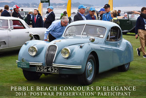 1953 Jaguar XK120 FHC - Pebble Beach 2018 participant For Sale