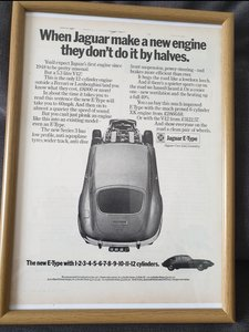 1971 Jaguar E-type advert Original
