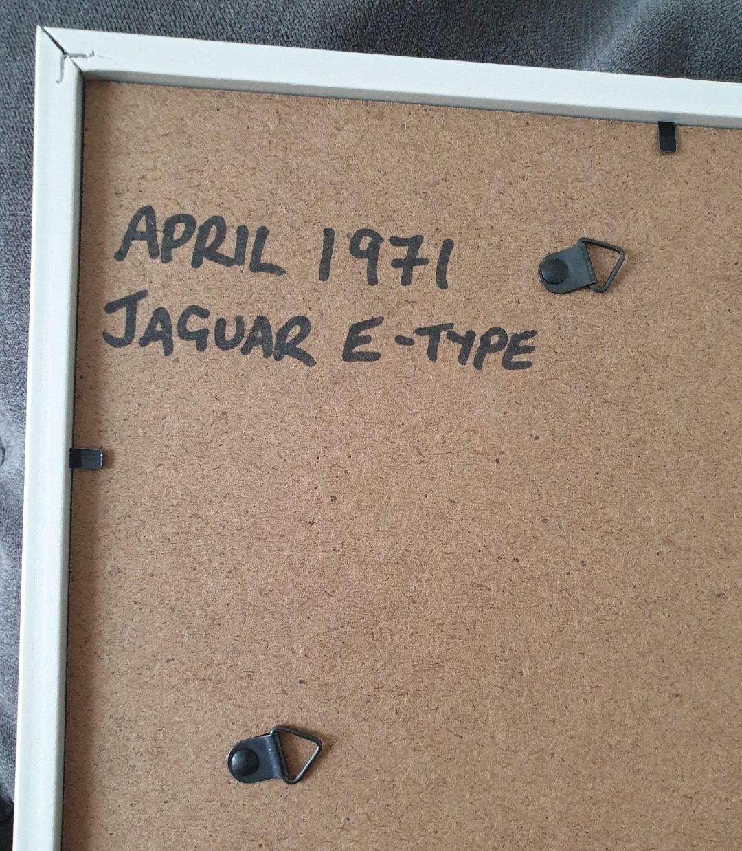 1971 Jaguar E-type advert Original  For Sale (picture 2 of 2)
