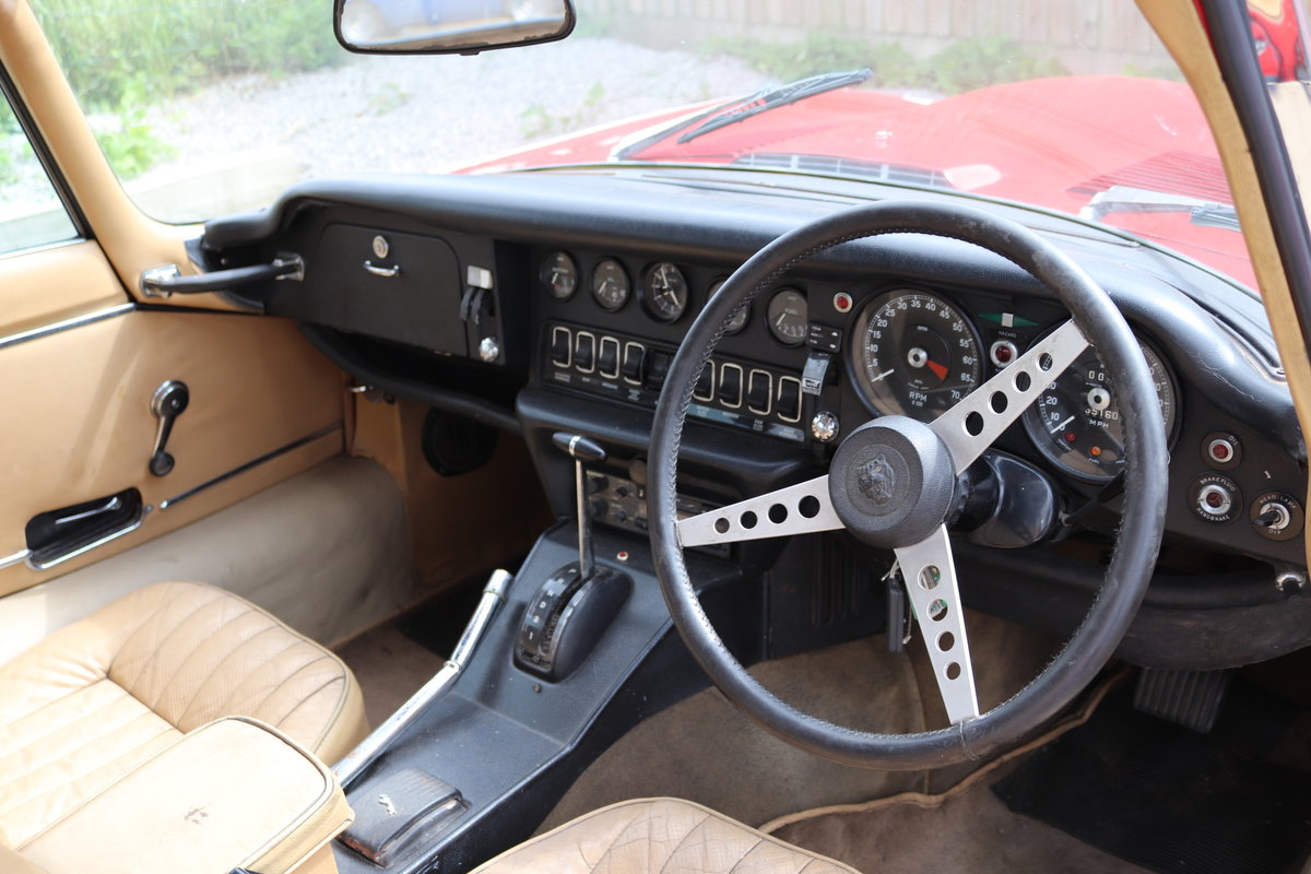 1973 Jaguar E Type v12, UK Car, Automatic,Full sunroof For Sale (picture 6 of 6)