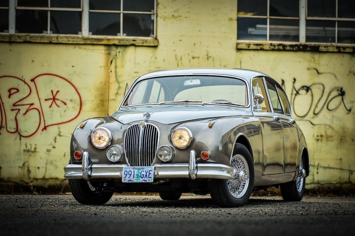 1964 Jaguar Mk II 3.8 Liter = LHD Manual Correct Grey $14k For Sale (picture 1 of 6)